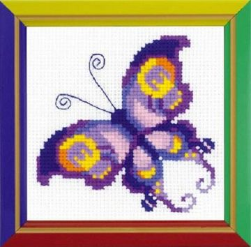 Riolis Cross Stitch Kit.AMETHYST BUTTERFLY